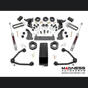 """Chevy Silverado 1500 4WD Combo Lift Kit w/ Upper Control Arms - 4.75"""" Lift - Cast Steel"""
